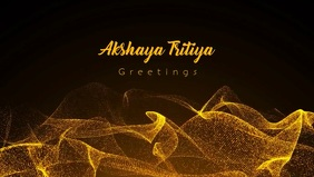 Akshaya Tritiya Greetings Video Template Ikhava Yevidiyo ye-Facebook (16:9)