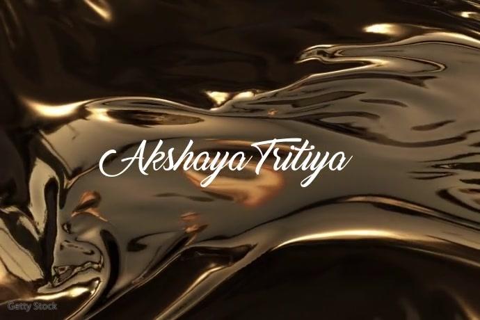 Akshaya Tritiya Video Template Poster