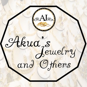 Akua's Jewelry & others Logo template