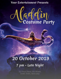 Aladdin Costume Party Event Flyer Template