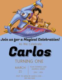 Aladdin Kids Party Invitation Template