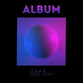 Album 3d ball video neon