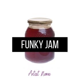 Album art graphic design funky jam