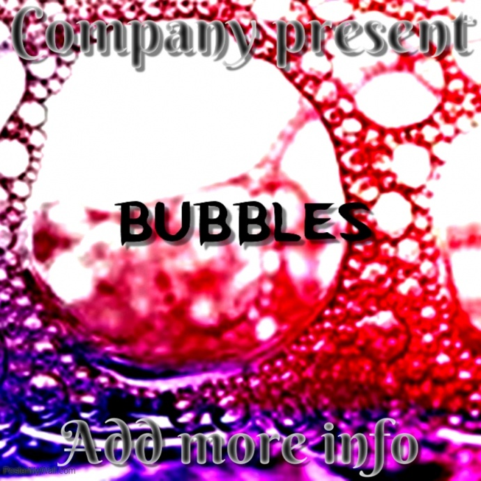 album cover bubbles template postermywall