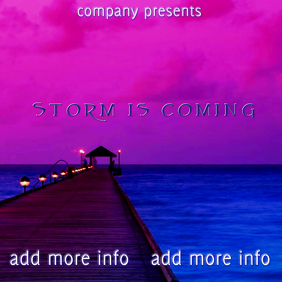 """Album Cover """"Storm is Coming"""" template"""
