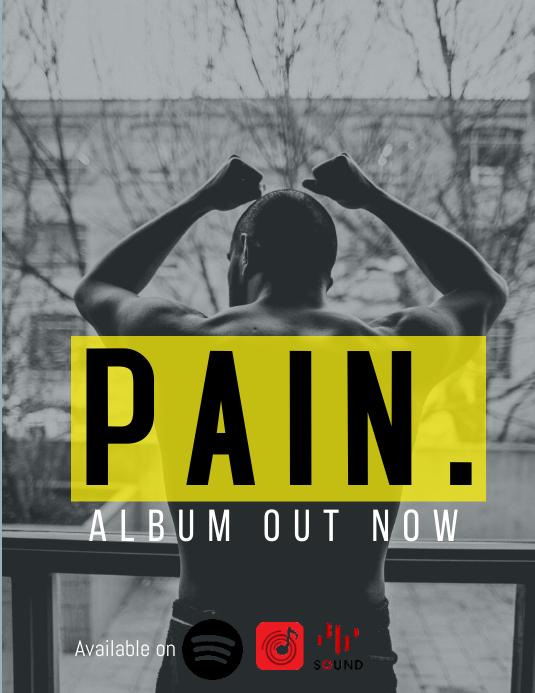 Album Cover Advert 传单(美国信函) template