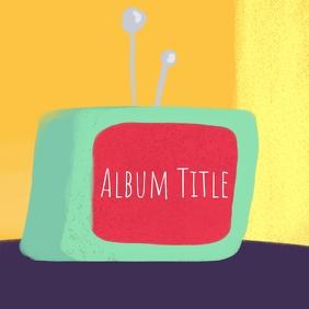 Album cover art Albumcover template