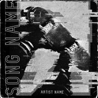 Album cover art design template