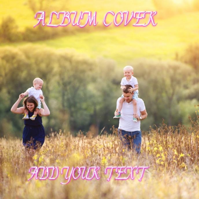 Album cover Capa de álbum template