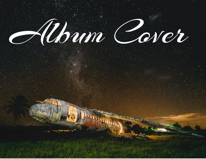 album cover Løbeseddel (US Letter) template