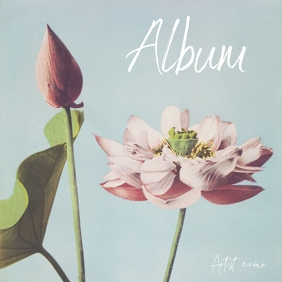 Album cover flower japanese lotus painting