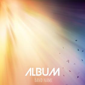Album cover flyer template Ikhava ye-Albhamu
