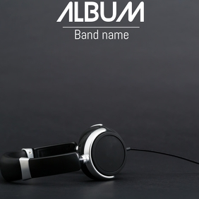 Album cover flyer template 专辑封面
