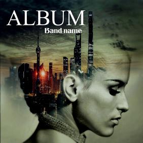 Album cover flyer template Capa de álbum