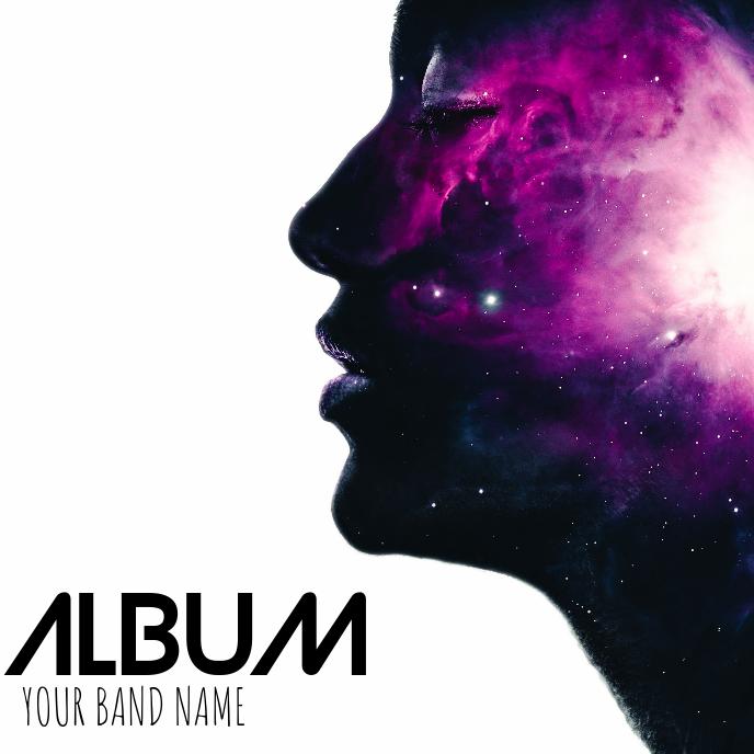 Album cover flyer template