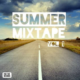 Album Cover Instagram Ad Template Summer Mix