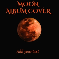 Album cover moon template