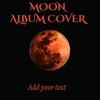 Album cover moon template