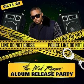 ALBUM COVER RAP RELEASE PARTY