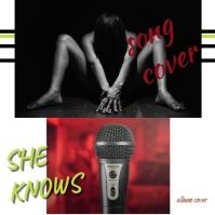 album cover/song cover/youtube/karaoke song Okładka albumu template
