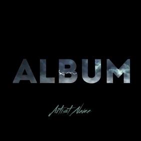 Album cover text mask lightning storm video ปกอัลบั้ม template
