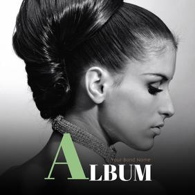 Album Cover Template with Portrait