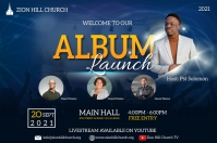 album launch poster Плакат template
