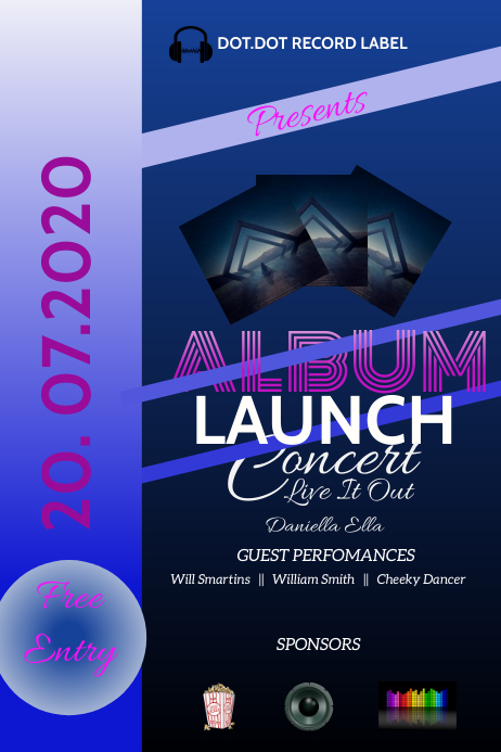 Album Launch Poster Flier template