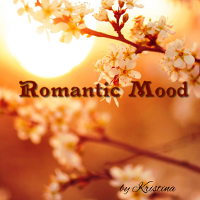 "Album or Book cover ""Romantic Mood"" template"