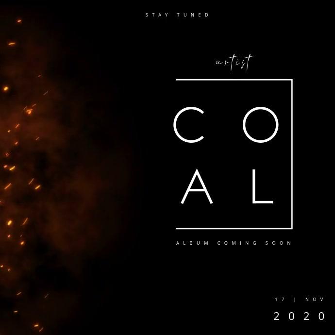 ALBUM TEASER | COAL Kvadrat (1:1) template