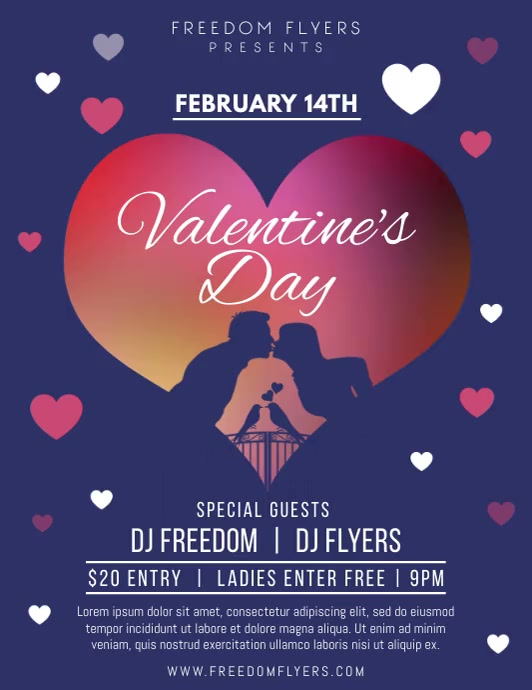alentines Day Party Flyer Video Template