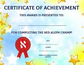 Aleph champ award Pamflet (VSA Brief) template