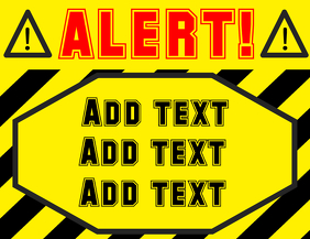 ALERT ! sign yellow black red