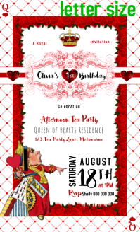 Alice in wonderland Tea Party Flyer event