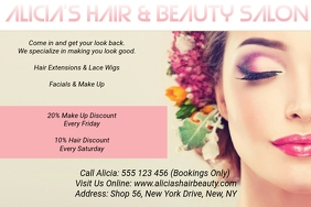 Alicia's Hair & Beauty Salon 2 Poster template