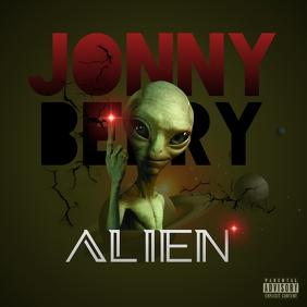 ALIEN ALBUM COVER MUSIC template