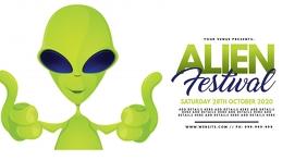 Alien Festival Facebook Event Poster
