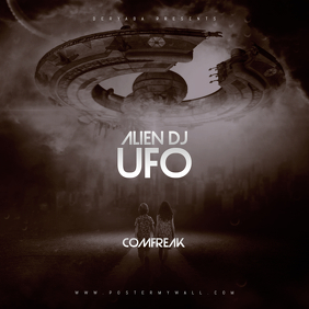 Alien UFO Mixtape CD Cover Template