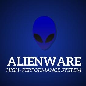 Alienware laptop template