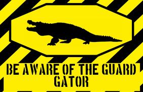 aligator gator sign - humouristic joke