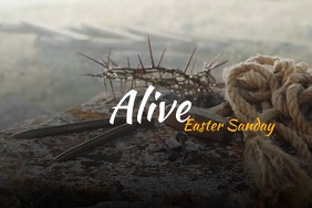 Alive Easter Sunday Video Poster Template