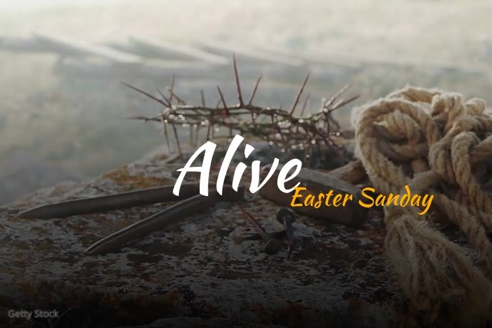 Alive Easter Sunday Video Poster Template 海报