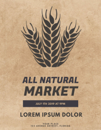 All Natural Market Event Flyer Template
