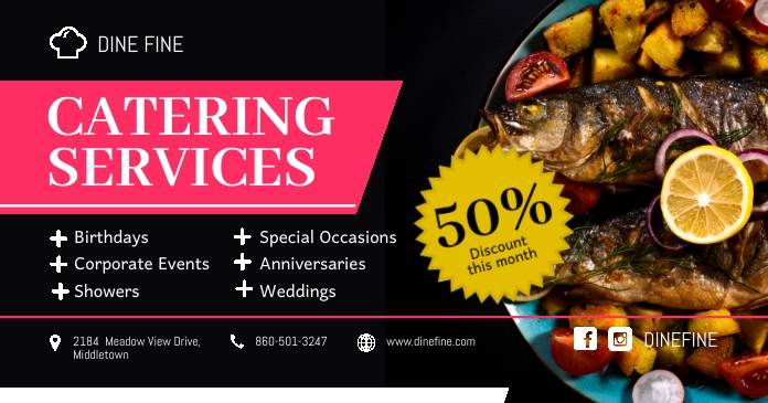 All Occasion Food Catering Service Facebook P template