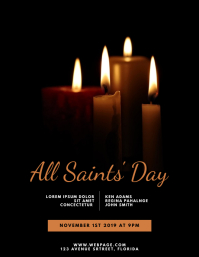 All Saints' Day Flyer Design Template