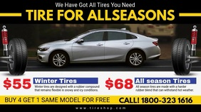All Season Tire Shop Digital Display Video template