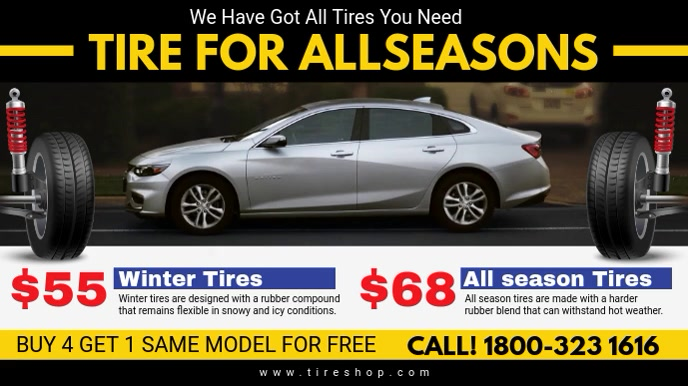 All Season Tire Shop Digital Display Video