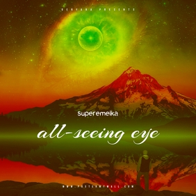 All-seeing eye mixtape cover template