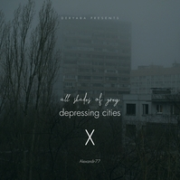 all shades of grey depressing city cd cover template