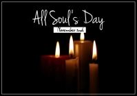All souls day flyer A3 template